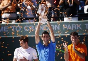 A győztes öröme: Novak Đoković