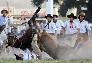Baleset a rodeón