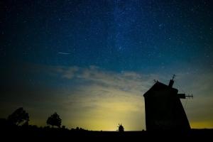Meteor Tés község felett