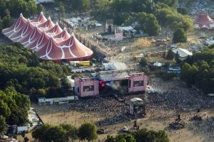 Légi felvétel a Sziget Fesztiválról