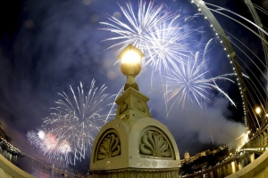 Ünnepi tűzijáték Budapesten