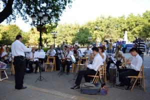 A Szabadkai Fúvószenekar fellépése a város ünnepén