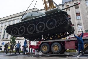Szovjet T34-es tankot állítottak ki Debrecenben