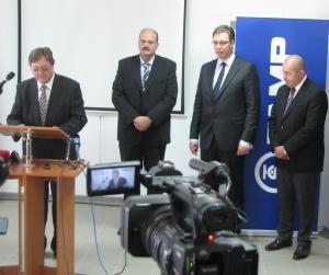 Aleksandar Vučić és Pásztor István Adán és Zentán