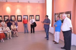 Szalai Attila kiállításán és könyvbemutatóján
