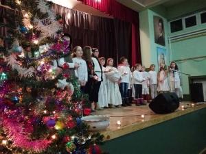 A muzslyai tanulók karácsonyi műsora