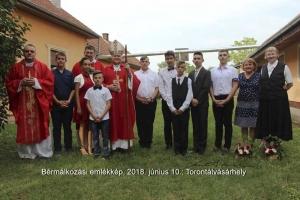 A nagykorúság szentségének bensőséges ünnepe