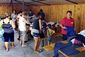 Jótékonysági ruhaosztást tartottak Muzslyán